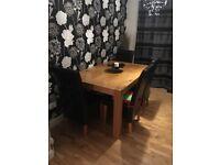 Chunky Oak Dining Table
