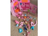 Rosie's world dolls, campervan, hairdressers, boutique, stables, icecream van etc