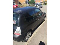 Black Clio. 70k miles. Bought new car so selling
