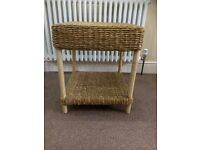 Wicker Cane Coffee Table Vintage Beautiful table with lower shelf great condition sturdy strong £8