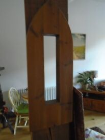 arch wooden wall mirror