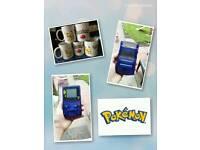 Gameboy color Blue Pokemon game