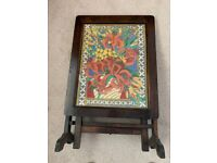 Vintage Fire Screen/Occasional Table