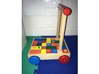 Alphabet brick trolley