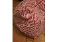 Habitat Red Knitted Patterned Pouffe