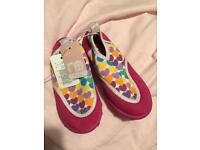 Brand new mothercare pink Aqua socks shoes size 7 £4
