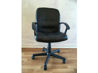 Used IKEA office chair, with arm support, rollers, adjustable height