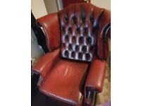 Chesterfield settee and chairs