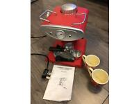 Coffee espresso cappuccino machine with two cups