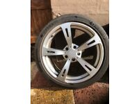 """AC Schnitzer 19"""" alloys with Davanti tyres as new. Alloys in good condition with some kerbing."""