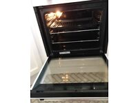 Howdens white integrated oven and hob for sale