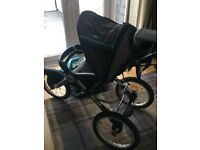 Jeep overland limited running/off road pushchair