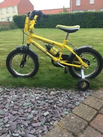 Child's Raleigh bike with stabilisers