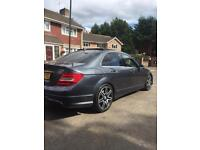 Mercedes C250 AMG Sport Plus! Pan roof! Unrecorded Damaged repairable salvage