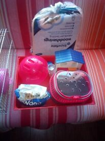 For sale hamster cage with accessories