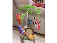 Baby musical mobile fisher price with remote