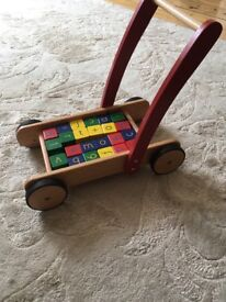 Baby walker and bricks Great condition