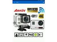 Amkov AMK7000S Sports Cam ~ Full HD 1080P ~ WiFi ~ DV 4K ~ Excellent Condition