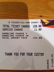 Two Elton john tickets belfast
