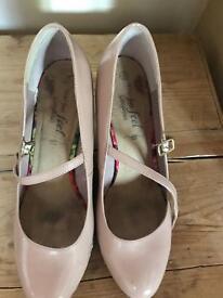 Buff coloured Wedge heels
