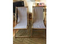 Deck chairs from Habitat