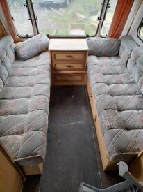 Caravan long seat cushions