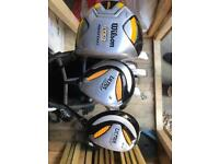 Full set Wilson clubs plus extras. £150 ono