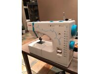 Janome sewing machine in good working order include foot control lead and power plug.