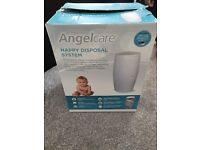 Angelcare nappy disposal system - white, new with a cassette