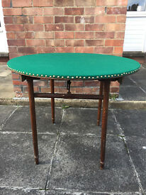 Antique Folding Card Table For Sale