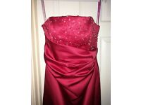 Stunning red ball gown/bridesmaid dress