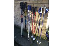 Snow ski poles 5 pairs - 2 sizes - £5 - £10 PER PAIR