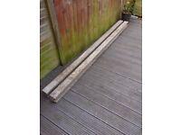 2 UNUSED 2.4m Concrete fence posts + postcrete