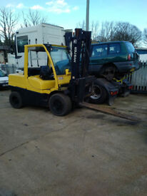Hyster 5.5 ton forklift with sideshift. 4 M duplex.