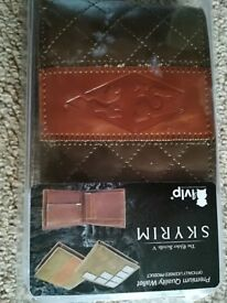 Skyrim themed faux leather men's wallet