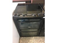 Zanussi ZCV662MNC 60cm Double Electric Cooker in Black #3560