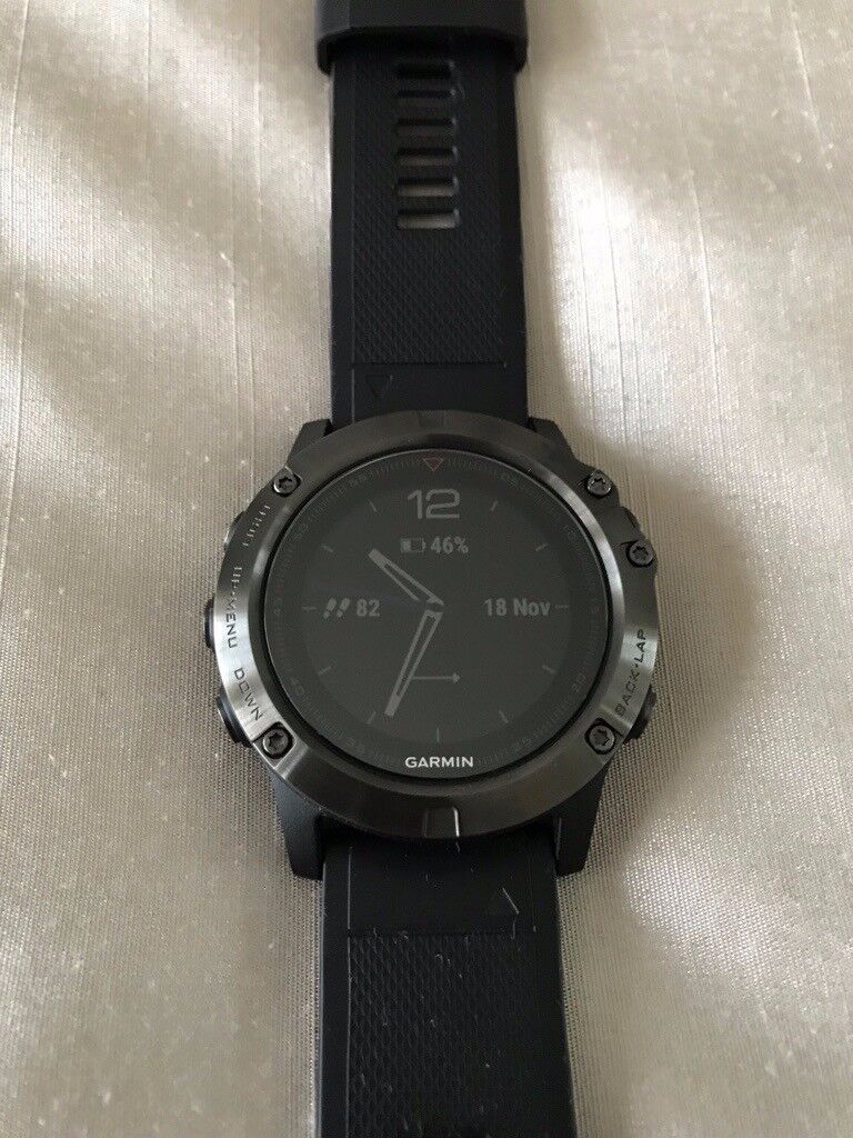 Garmin Fenix 5x Sapphire Edition Slate Grey With Black Band Very Little Use Like New In Aberdeen Gumtree