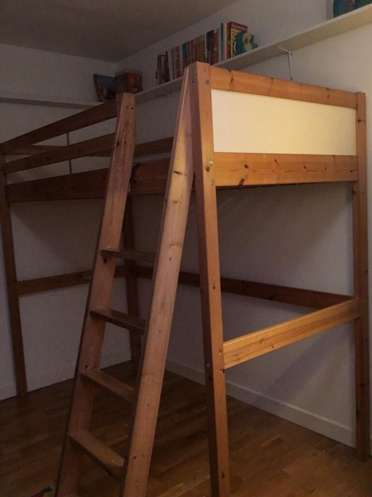 Ikea Single Loft Bed Vradal With Mattress And Futon Underneath Can Deliver