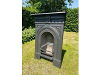 Original victorian cast iron bedroom fireplace.