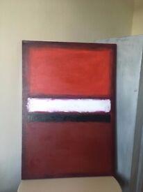 hand painted medium acrylic