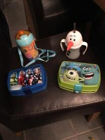 Selection of Kids Cups and sandwich Boxes