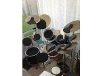 Drum kit for sale with practice kit and foot pedal,offers!Last chance,bargain!