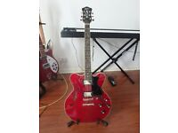 Hofner Verythin Standard CT - Cherry Red Electric Guitar + case