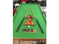 Pool table/snooker complete
