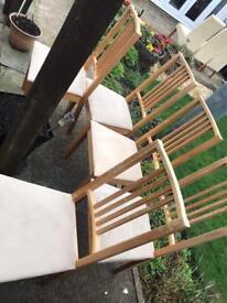 5 chairs £5 each