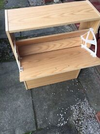 Two rack shoe cupboard storage compartment for hall, porch or landing.