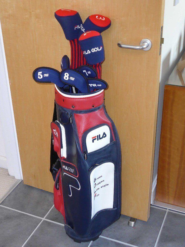 6a7dac434f Ladies FILA Golf Clubs full set unused including bag