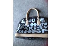 Louis Vuitton graffiti bowling bag