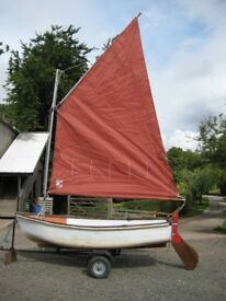 10 ft. sailing dinghy and trailer