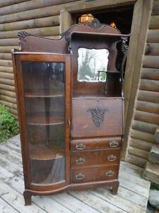 ANTIQUE SIDE BY SIDE CABINET